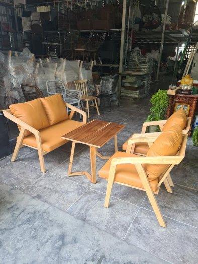 Bàn ghế sofa cafe nhựa giả mây giá tốt, hàng mới 99%8