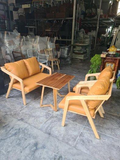 Bàn ghế sofa cafe nhựa giả mây giá tốt, hàng mới 99%7