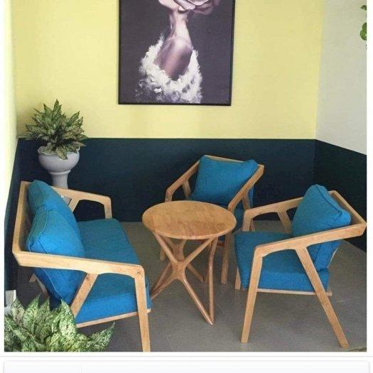 Bàn ghế sofa cafe nhựa giả mây giá tốt, hàng mới 99%5