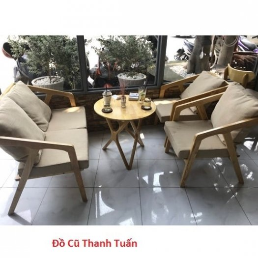 Bàn ghế sofa cafe nhựa giả mây giá tốt, hàng mới 99%2