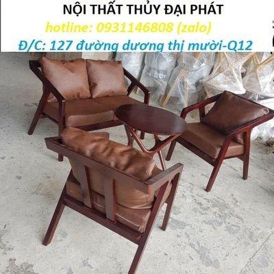 Bàn ghế sofa cafe nhựa giả mây giá tốt, hàng mới 99%1