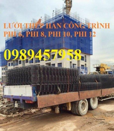 Chuyên sản xuất lưới hàn chập phi 6 đổ bê tông ô 100x100, 150x150, 150x200, 200x200, 250x2500