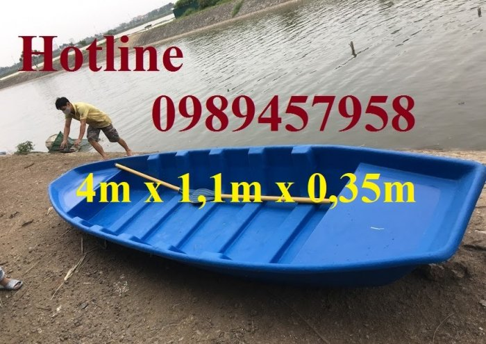 Thuyền nhựa chèo tay 2-3 người, thuyền câu cá cho 4 người4