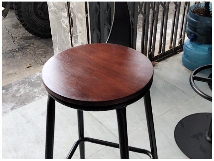 Ghế ba cao cấp mặt gỗ lưng sắc sơn tĩnh0