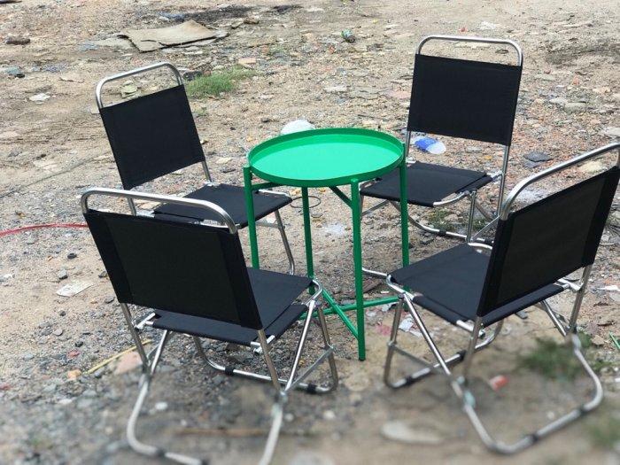 Bộ bàn ghế lưới xếp cf3