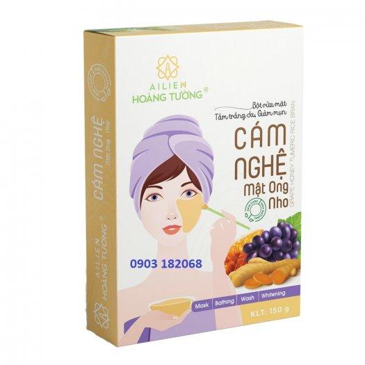 Cám Nghệ Mật Ong Nho Ái Liên (Grape Honey Tumeric Rice Bran) -  Ái Liên Hoàng Tường1