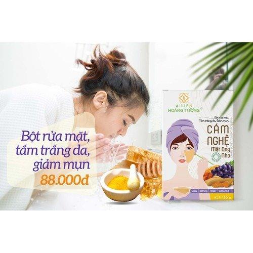 Cám Nghệ Mật Ong Nho Ái Liên (Grape Honey Tumeric Rice Bran) -  Ái Liên Hoàng Tường0