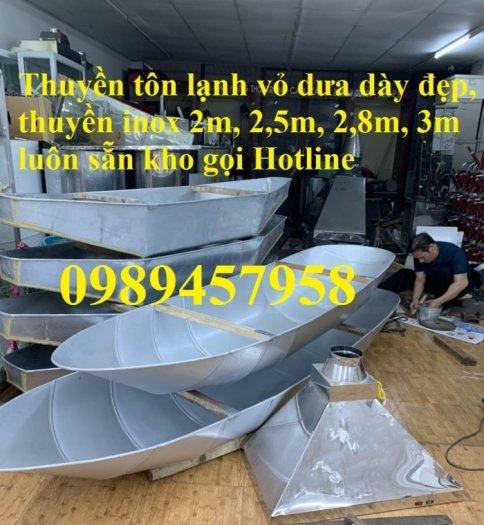 Thuyền câu cá cho 2-3 người, thuyền inox chèo tay giá rẻ nhất4