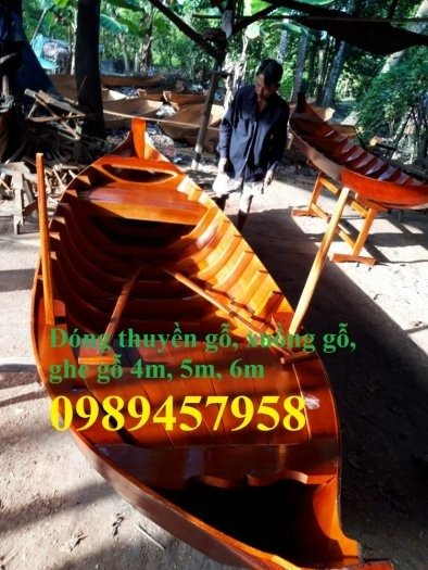 Bán Xuồng gỗ trưng bày nhà hàng 3m, 4m, 5m có sẵn3