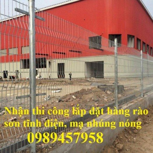 Hàng rào chấn sóng, hàng rào gập 2 đầu lưới, hàng rào lưới thép hàn phi 5 50x150, 50x200 có sẵn1