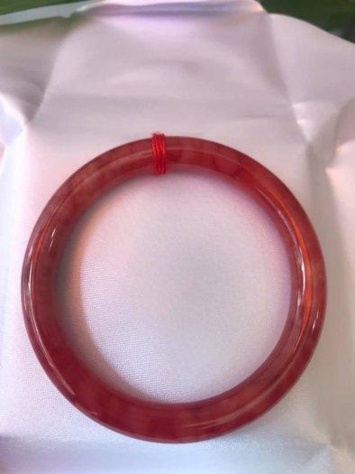 Chiếc vòng tay đá cẩm thạch đỏ đẹp 53mm đỏ vân đỏ đậm nhạt rất xinh2