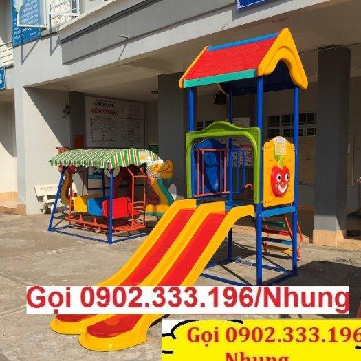 Nơi cung cấp cầu trượt cho trẻ em mầm non giá rẻ3