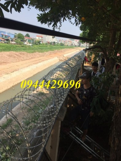 Dây thép gai hình dao Đk 45. 60.80cm lưới thép Nam Định10