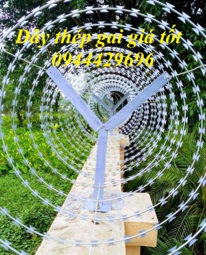 Dây thép gai hình dao Đk 45. 60.80cm lưới thép Nam Định0