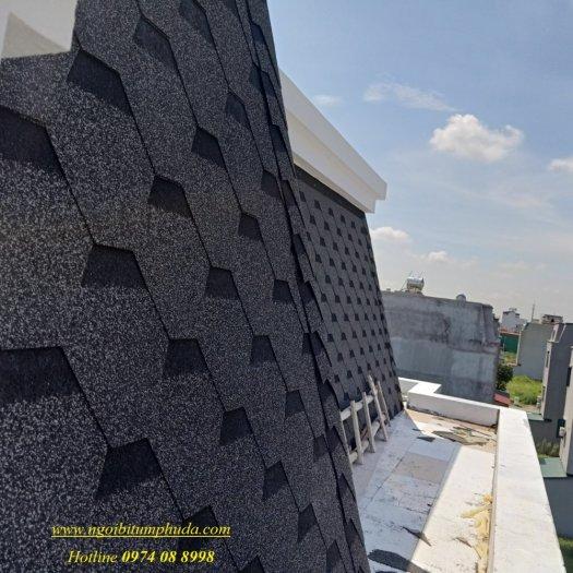 Tấm lợp bitum phủ đá giải pháp lợp mái cho dự án biệt thự, tấm lợp bitum tổng hợp siêu nhẹ7