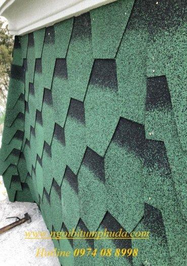 Tấm lợp bitum phủ đá giải pháp lợp mái cho dự án biệt thự, tấm lợp bitum tổng hợp siêu nhẹ3