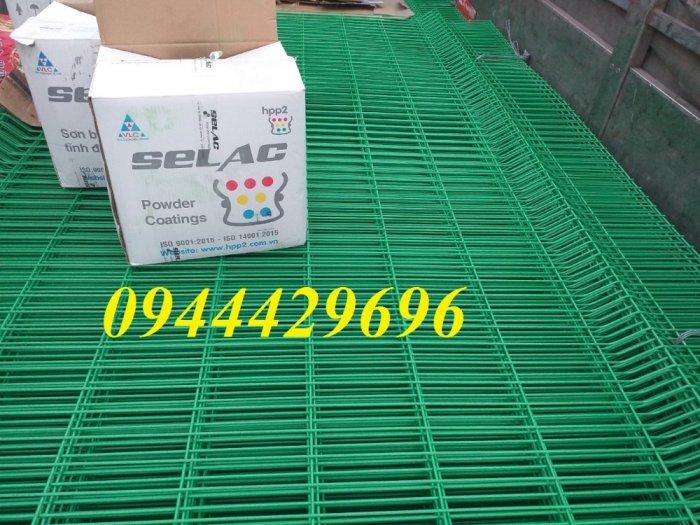 Hàng rào lưới thép hàn mạ kẽm sơn tĩnh điện D5 50x20014
