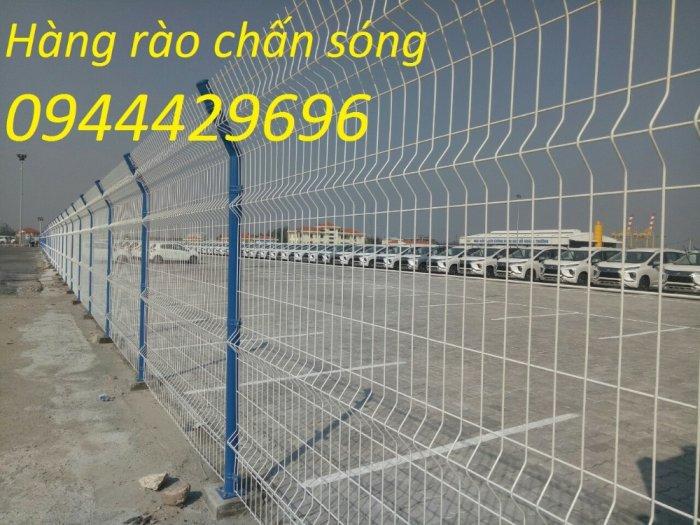 Hàng rào lưới thép D5 a 50x150, 50x200 chấn sóng mạ kẽm,hàng rào sơn tĩnh điện8