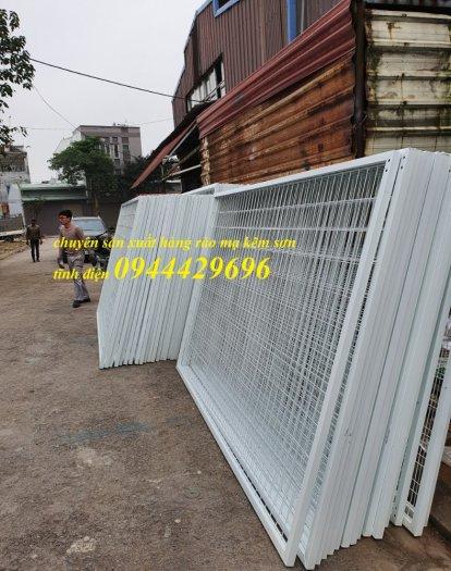 Hàng rào lưới thép D5 a 50x150, 50x200 chấn sóng mạ kẽm,hàng rào sơn tĩnh điện4