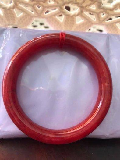Chiếc Vòng Tay Phong Thủy Đá Cẩm Thạch Cồ Đỏ 56mm màu Đỏ Đậm Đẹp8