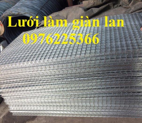Sản xuất lưới làm giàn lan D3, D4 ô 35x35mm, 40x40mm, 50x50mm2