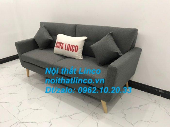 Bộ bàn ghế sofa băng văng dài xám đậm đen giá rẻ Nội thất Linco Sài Gòn SG2
