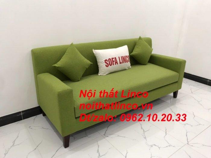 Bộ bàn ghế sofa băng văng 1m9 xanh lá giá rẻ đẹp vải bố Nội thất Linco Sài Gòn15