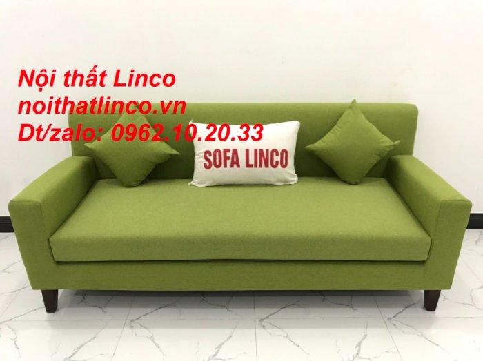 Bộ bàn ghế sofa băng văng 1m9 xanh lá giá rẻ đẹp vải bố Nội thất Linco Sài Gòn14