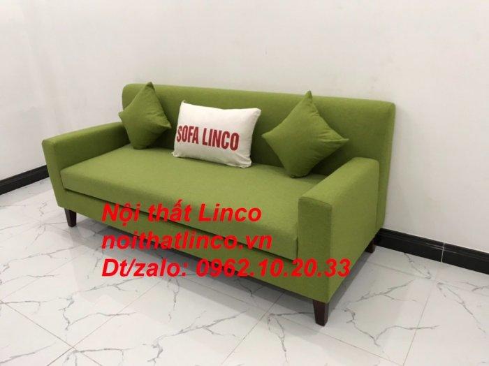 Bộ bàn ghế sofa băng văng 1m9 xanh lá giá rẻ đẹp vải bố Nội thất Linco Sài Gòn13
