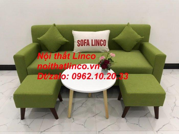 Bộ bàn ghế sofa băng văng 1m9 xanh lá giá rẻ đẹp vải bố Nội thất Linco Sài Gòn10