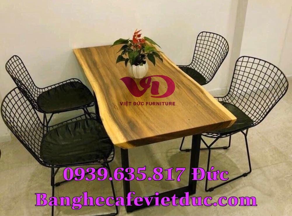 (Giá tại xưởng)Bàn ghế gỗ cafe có lưng,chất gỗ cao su đã qua xử lý keo,đẹp,bền,chất lượng1
