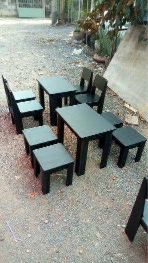 (Giá tại xưởng)Bàn ghế gỗ cafe có lưng,chất gỗ cao su đã qua xử lý keo,đẹp,bền,chất lượng4