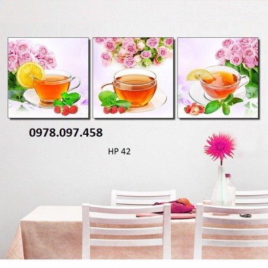 Tranh trang trí phòng ăn - tranh gạch1