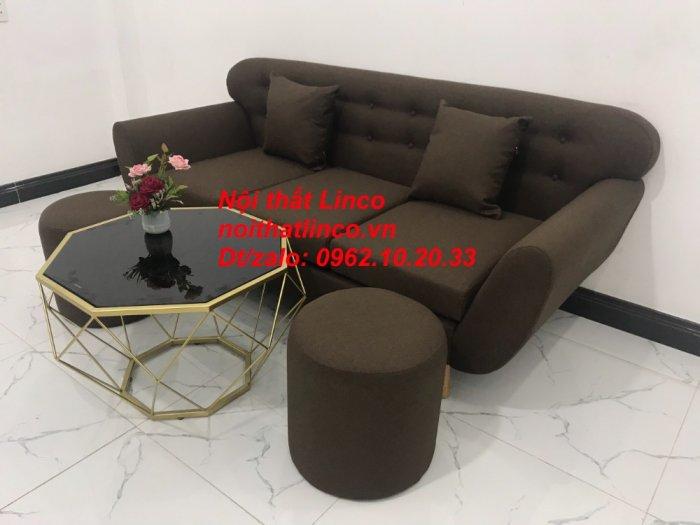 Bộ bàn ghế salon băng văng nâu cafe đen giá rẻ đẹp Nội thất Linco Sài Gòn HCM8