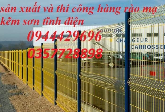 Hàng rào lưới thép hàn phi 4.5.6 chấn sóng mạ kẽm sơn tĩnh điện9