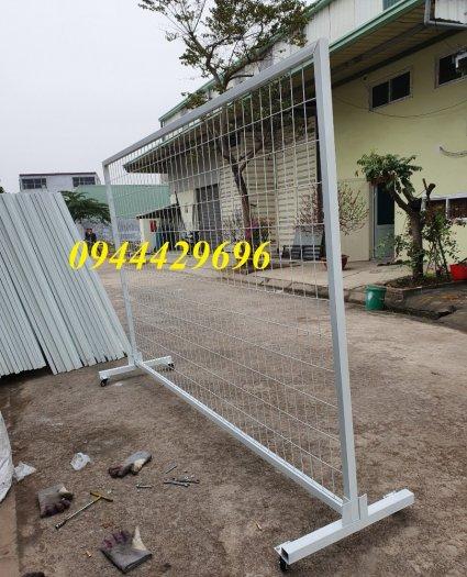 Hàng rào lưới thép hàn phi 4.5.6 chấn sóng mạ kẽm sơn tĩnh điện4