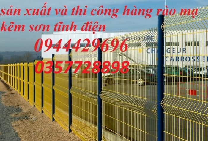 Hàng rào lưới thép hàn D5 a 50x150 mạ kẽm sơn tĩnh điện33
