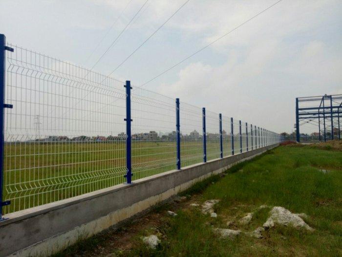 Hàng rào lưới thép hàn D5 a 50x150 mạ kẽm sơn tĩnh điện25