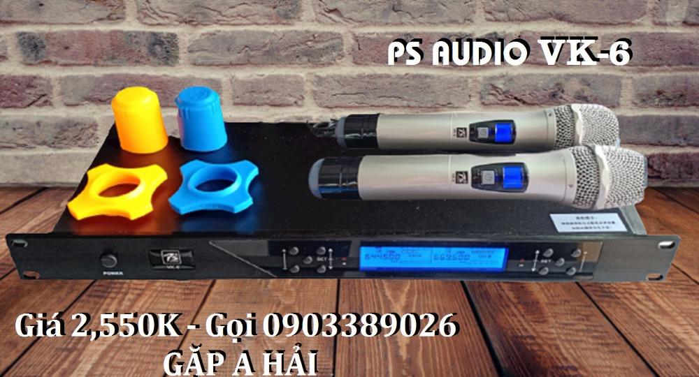 Micro không dây PS Audio VK-6 mẫu 2021, tiếng phát rõ, âm thanh hay5