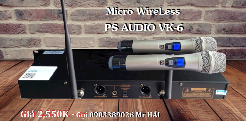 Micro không dây PS Audio VK-6 mẫu 2021, tiếng phát rõ, âm thanh hay4