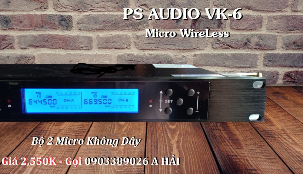 Micro không dây PS Audio VK-6 mẫu 2021, tiếng phát rõ, âm thanh hay3