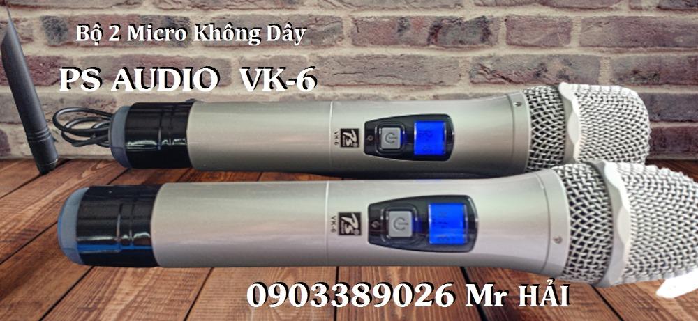 Micro không dây PS Audio VK-6 mẫu 2021, tiếng phát rõ, âm thanh hay2