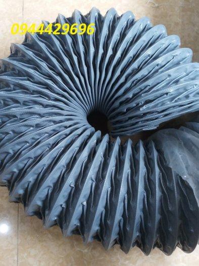Ống hút bụi vải bạt simili phi 75 màu ghi hàng sẵn kho13