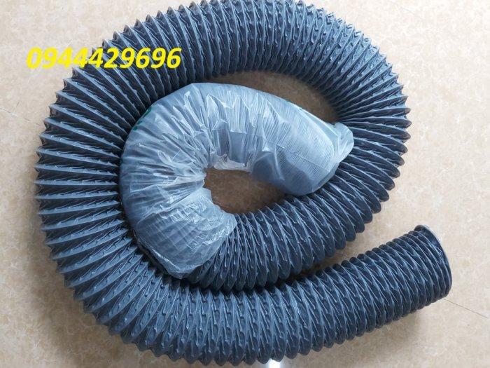 Ống hút bụi vải bạt simili phi 75 màu ghi hàng sẵn kho6