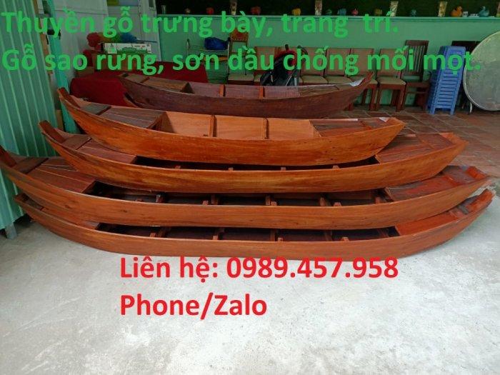 Cung cấp xuồng gỗ, thuyền gỗ giá rẻ0