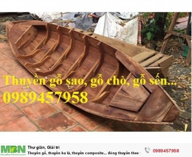 Thuyền ba lá, thuyền composite, thuyền gỗ, Thuyền chèo tay cho 2 người3