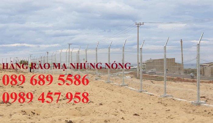 Hàng rào mạ kẽm nhúng nóng phi 5, phi 6 ô 50x50, 50x100, 50x150, 50x200, 75x2001