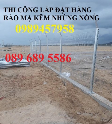 Hàng rào mạ kẽm nhúng nóng phi 5, phi 6 ô 50x50, 50x100, 50x150, 50x200, 75x2000