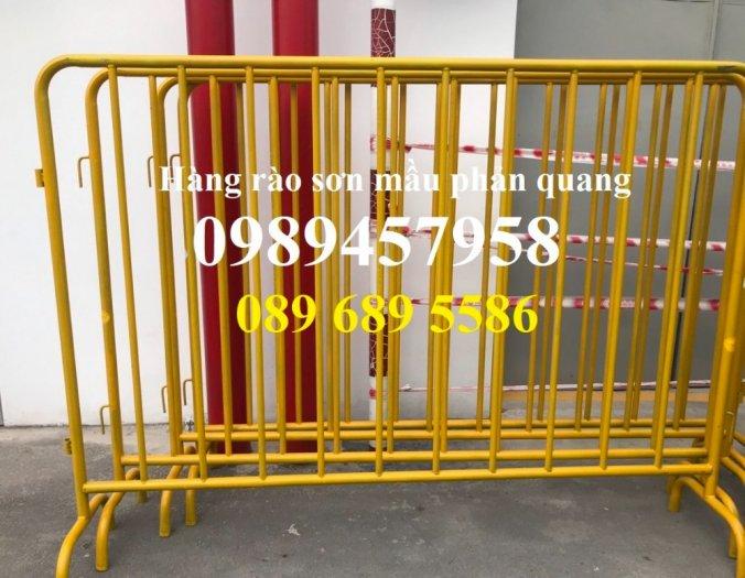Hàng rào khu chung cư, hàng rào di động barie 1mx2m, 1,2mx2m, 1,5mx2m có sẵn0