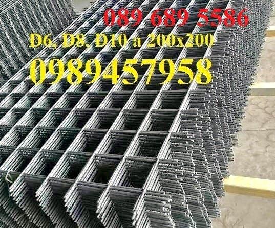 Lưới thép Phi 10 ô 100x100, 100x200, 200x200, 250x250, Lưới hàn đổ sàn phi 12 a 200x2000